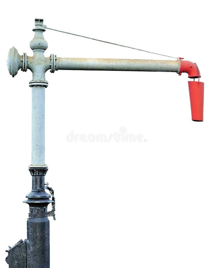 Bec de fléau de grue de l'eau d'engine de train de vapeur photo libre de droits