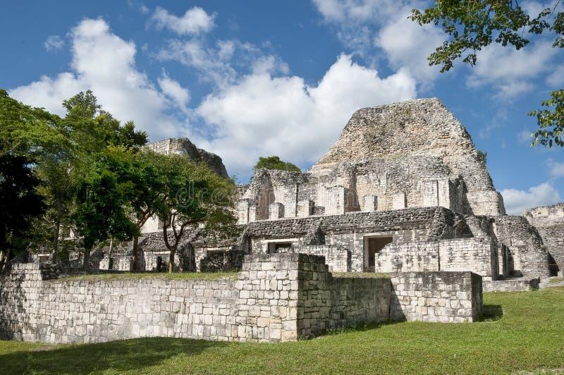 becan руины maya стоковая фотография