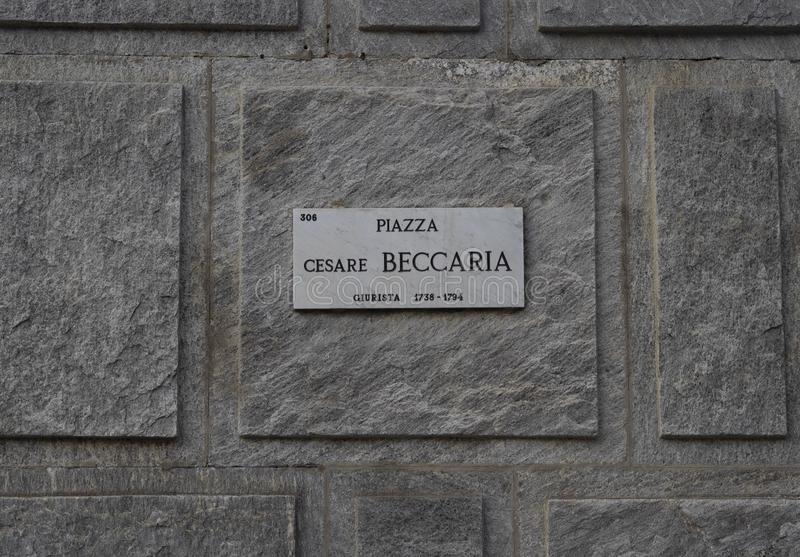 Beccaria square in Milan royalty free stock photos