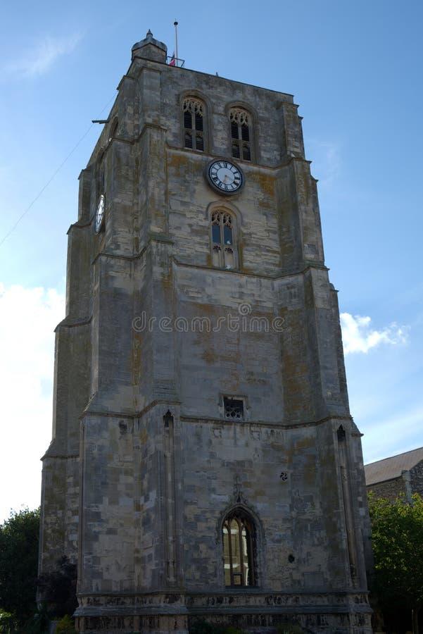BECCLES, SUFFOLK/UK - 23-ЬЕ МАЯ: Приходская церковь колокол t ` s St Michael стоковые изображения rf
