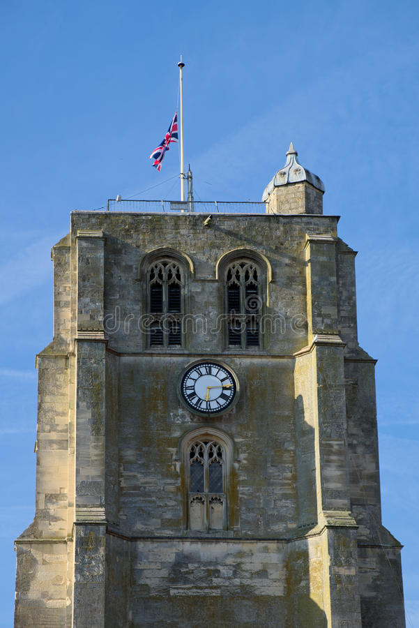 BECCLES, SUFFOLK/UK - 23 DE MAIO: Igreja paroquial Bell T do ` s de St Michael imagem de stock royalty free