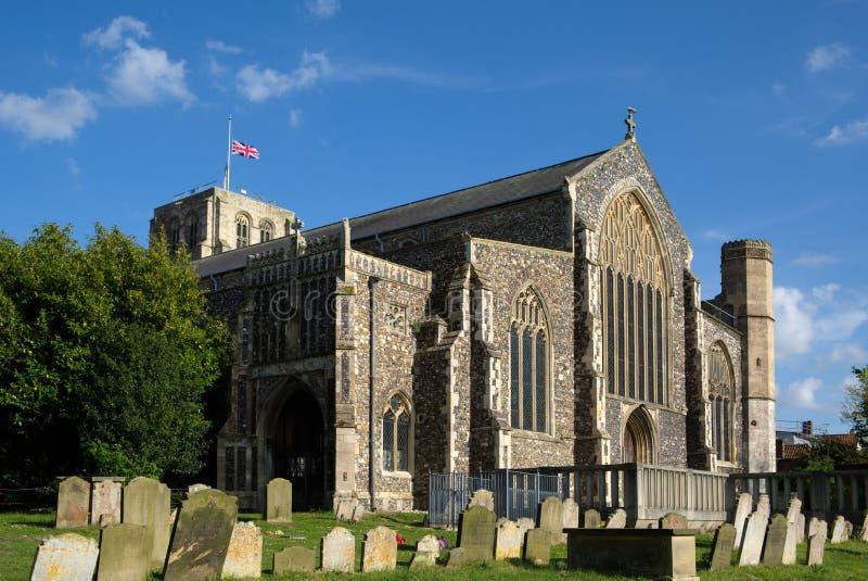 BECCLES, SUFFOLK/UK - MAJ 23: St Michael ` s Farny kościół w Bec fotografia stock