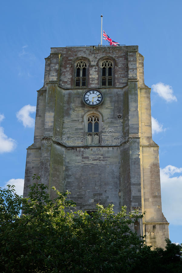 BECCLES, SUFFOLK/UK - MAY 23 : St Michael`s Parish Church Bell T royalty free stock images