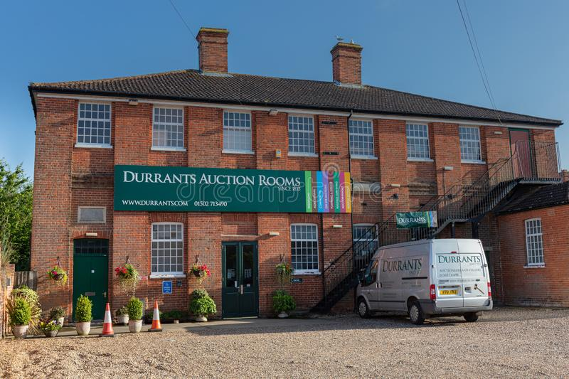BECCLES, UK - 28/06/2019: Durrants Auction Rooms building royalty free stock photo