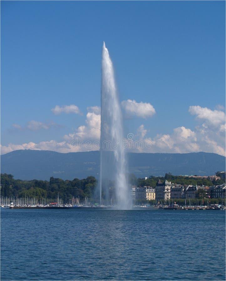 Becco di acqua di Ginevra fotografia stock libera da diritti