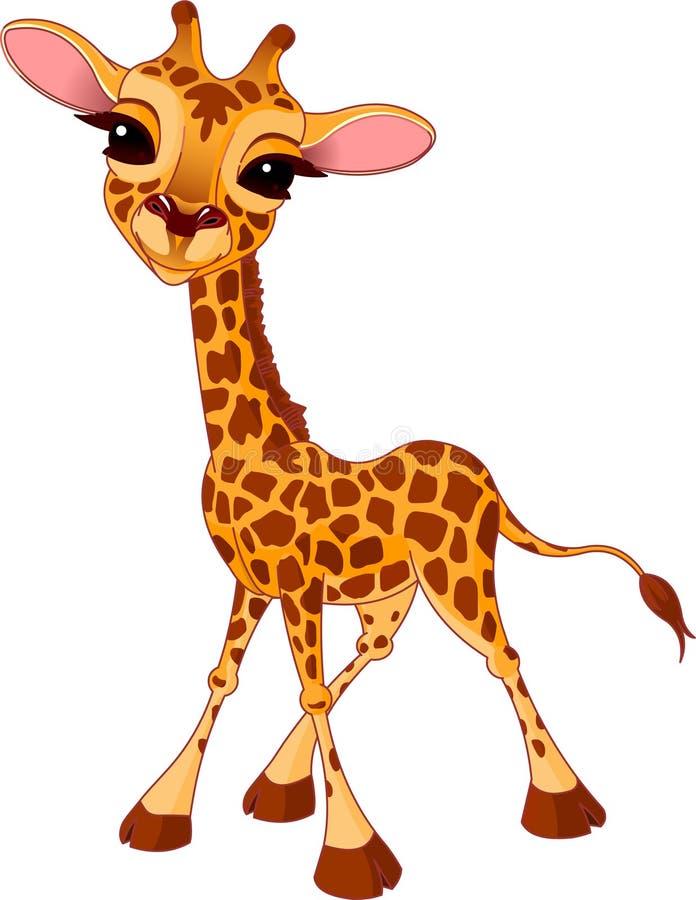 Becerro de la jirafa stock de ilustración