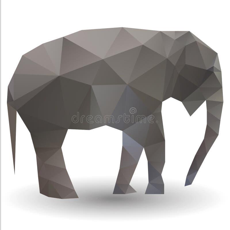 Becerro del elefante stock de ilustración