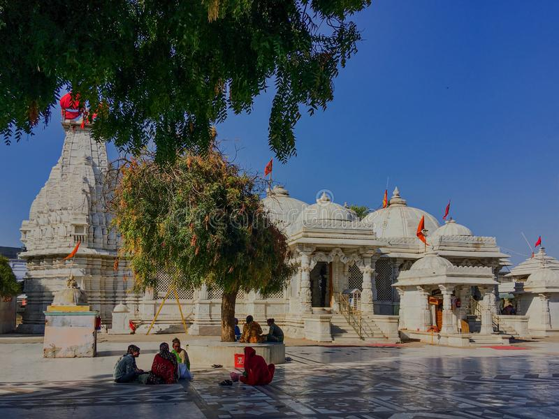 Becharaji或Bahucharaji寺庙马赫萨那县古杰雷特,印度 库存图片