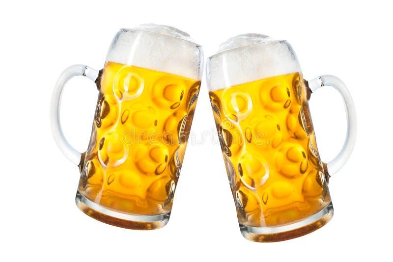 Becher Bier stockbild