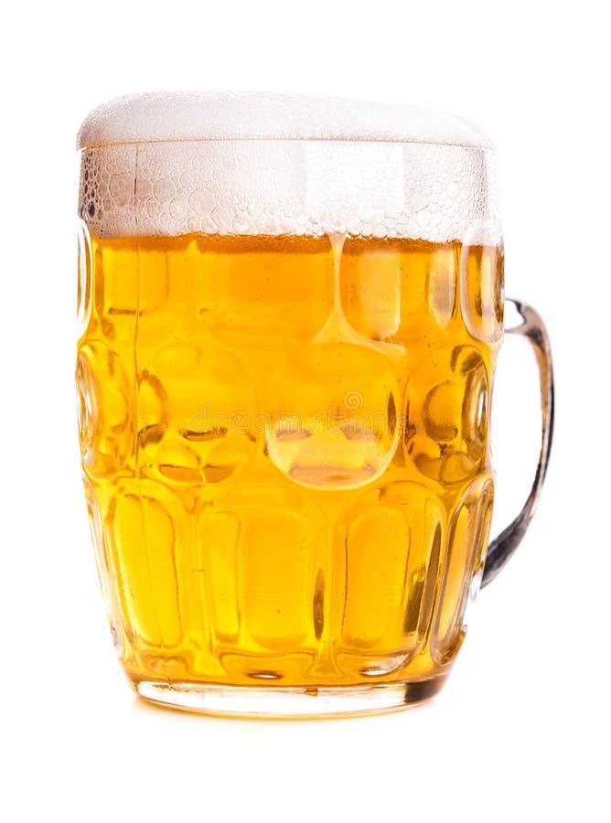 Becher Bier getrennt stockfotos