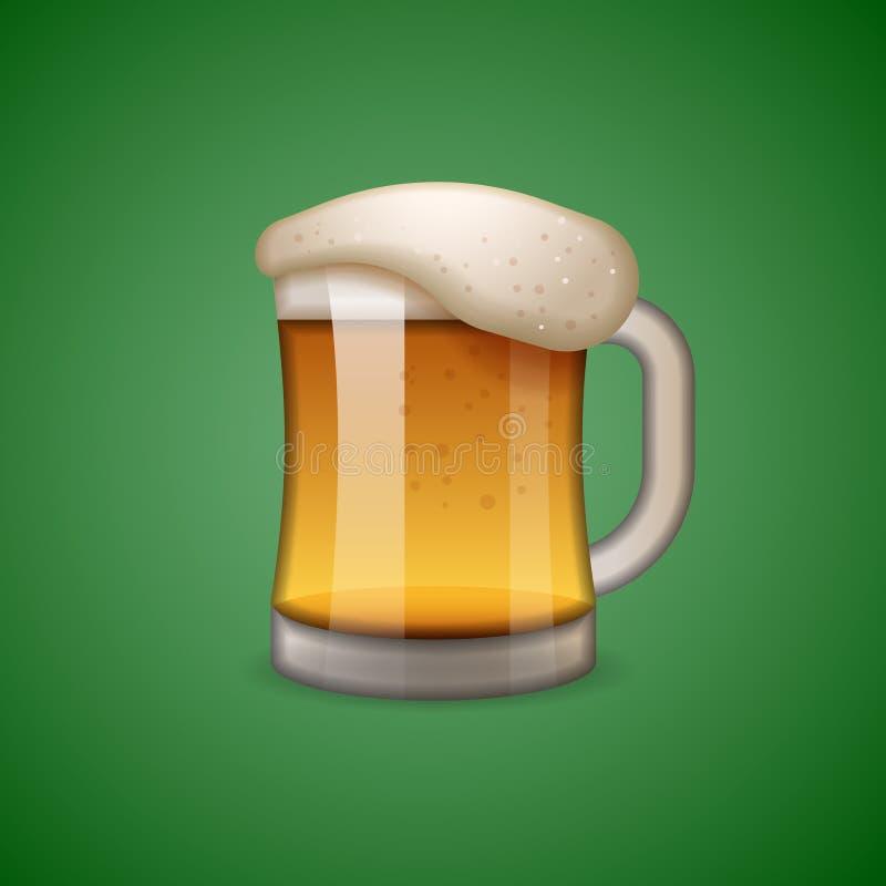 Becher der Bierikone, Emoticon, emoji stock abbildung