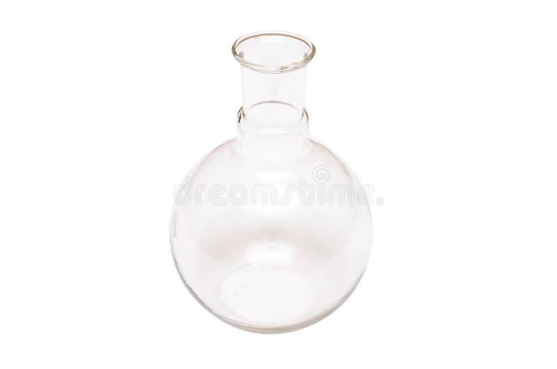 becher flacon Navire chimique fiole Bouteille en verre d'isolement images stock