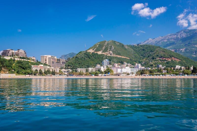 Becici в Черногории стоковое изображение