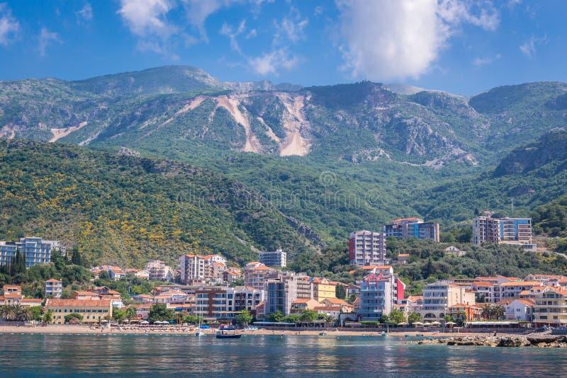 Becici i Montenegro arkivfoto