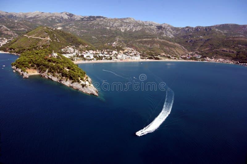 becici montenegro arkivfoto