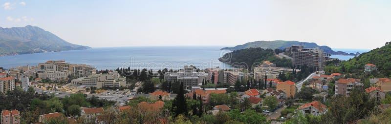 Becici Montenegro arkivfoton