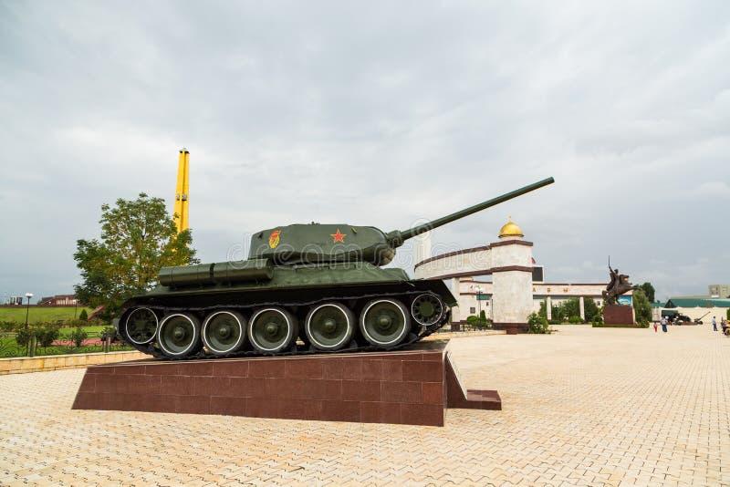 Becken t-34 Gasse des Ruhmes in Grosny, Tschetschenien lizenzfreie stockbilder