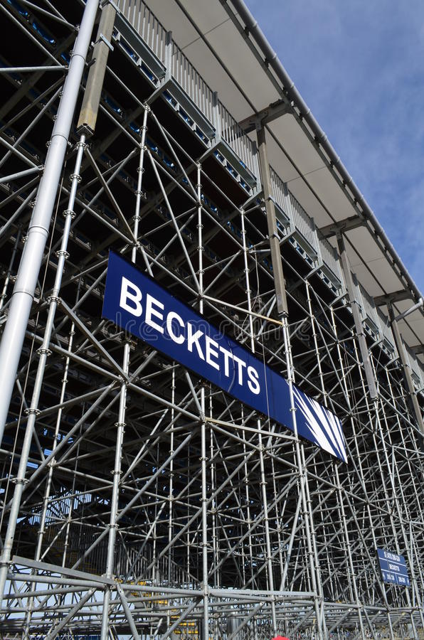 Becketts Grandstand At Silverstone. Editorial Photography - Image of ...