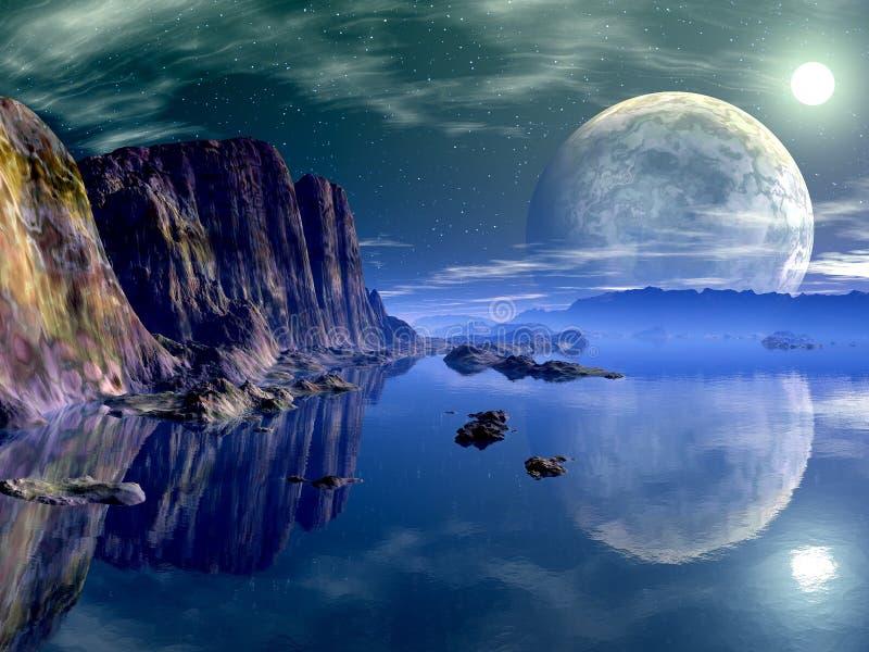 beckham月亮s 向量例证