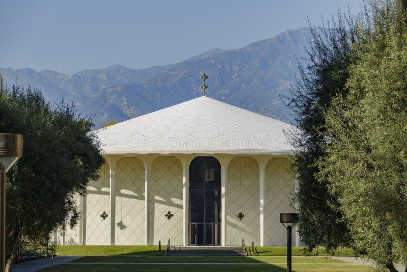Beckman观众席外视图在加利福尼亚理工学院 库存照片