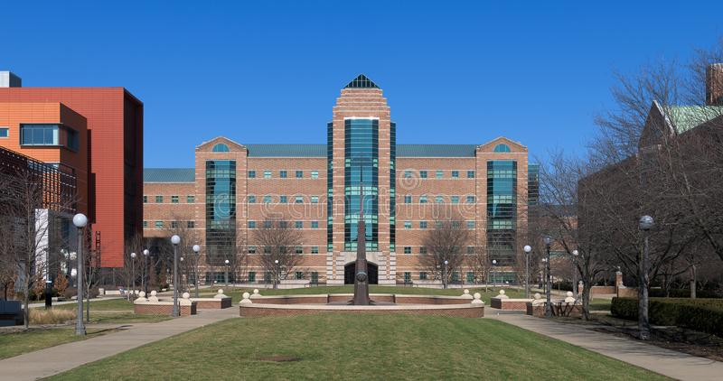 Beckman Institute at the University of Illinois. Beckman Institute for Advanced Science and Technology at 405 N Mathews Avenue on the campus of the University of royalty free stock images