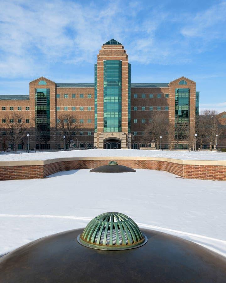 Beckmaninstituut bij de Universiteit van Illinois stock foto's