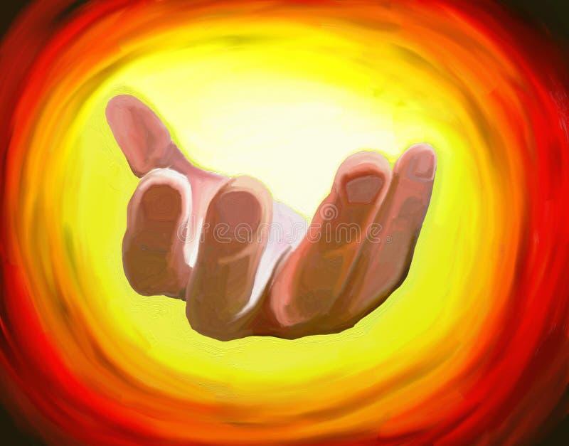 Beckoning hand stock illustration
