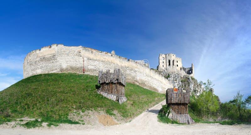 beckov城堡全景 库存照片