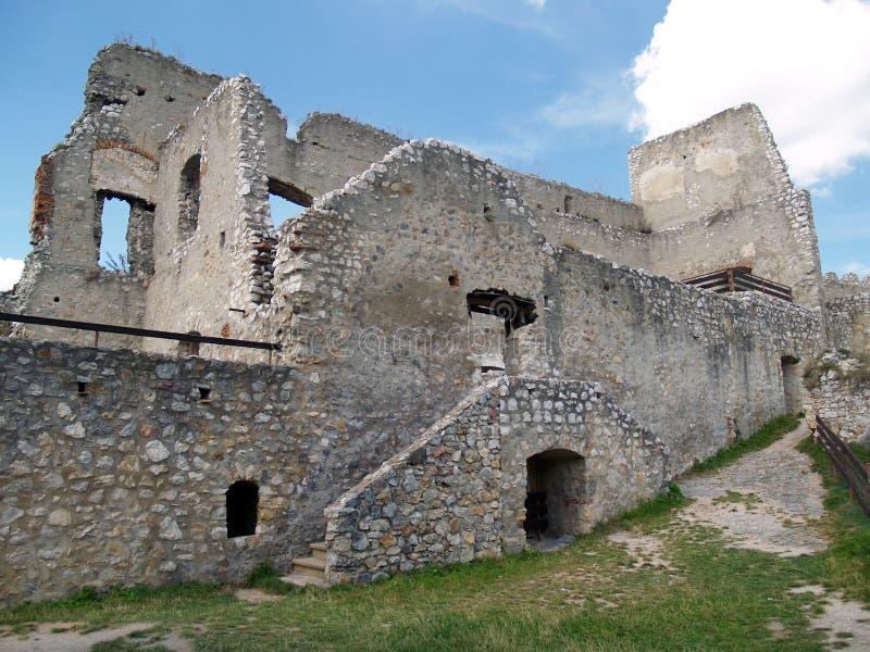 Beckov城堡的西部宫殿  免版税库存照片