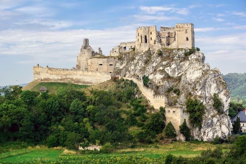 Beckov城堡 库存照片