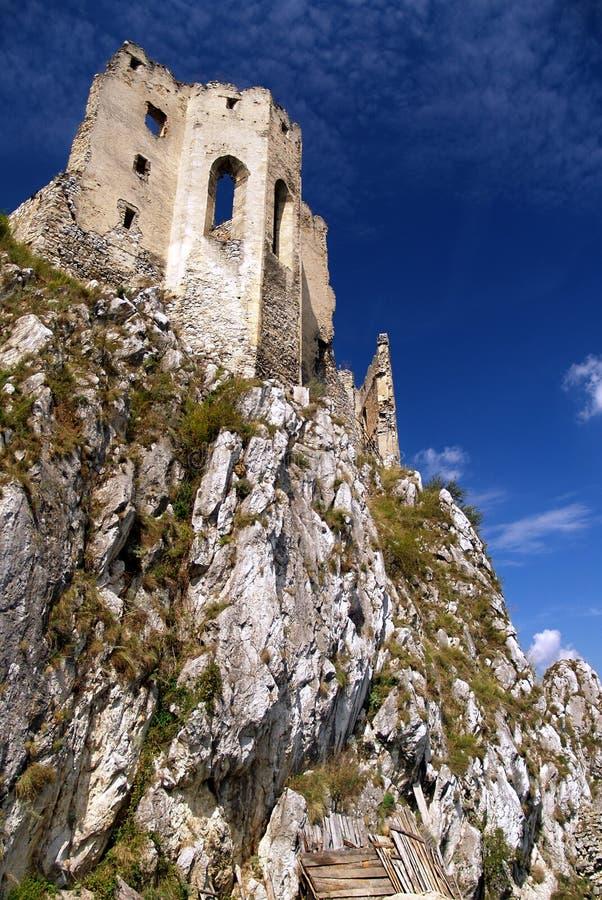 Beckov城堡 免版税图库摄影