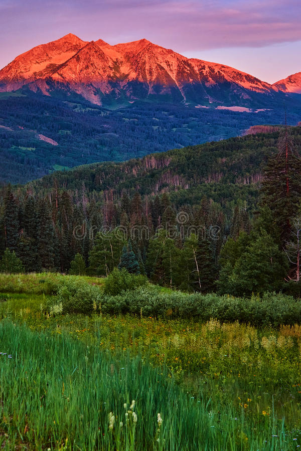 Free Beckwith Mountain Sunrise In Colorado Royalty Free Stock Image - 77988376