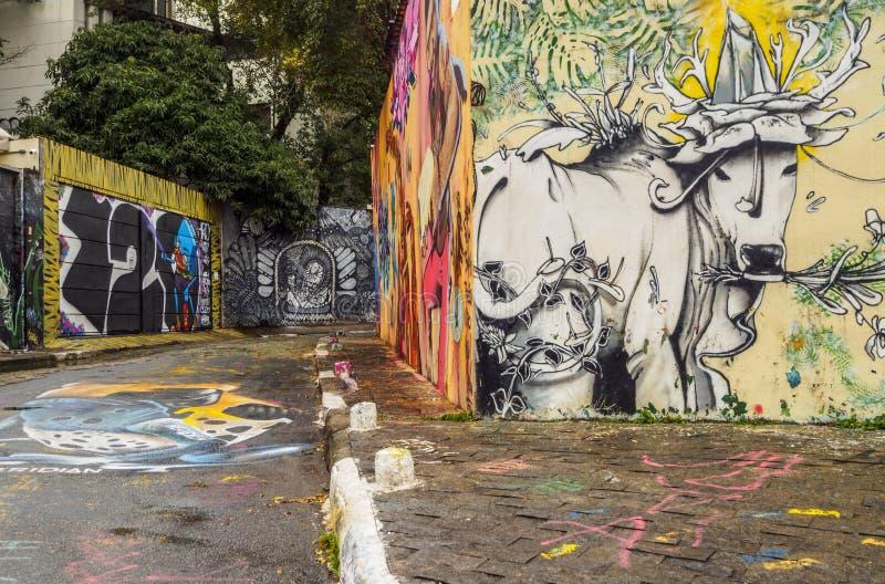 Beco do Batman στο Σάο Πάολο, Βραζιλία στοκ εικόνα με δικαίωμα ελεύθερης χρήσης