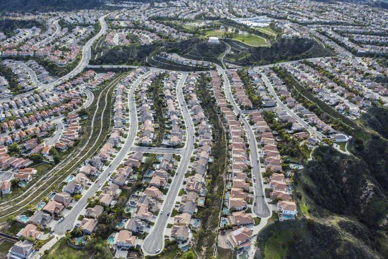 Beco sem saída suburbano em Los Angeles County Califórnia fotografia de stock royalty free
