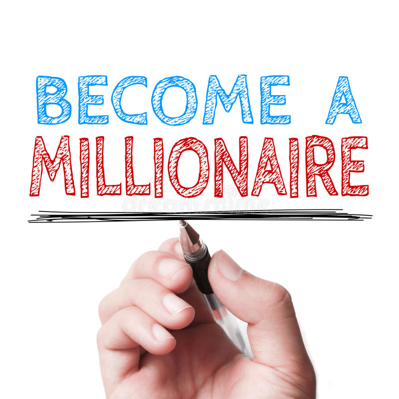 Free Become A Millionaire Royalty Free Stock Photo - 58506415