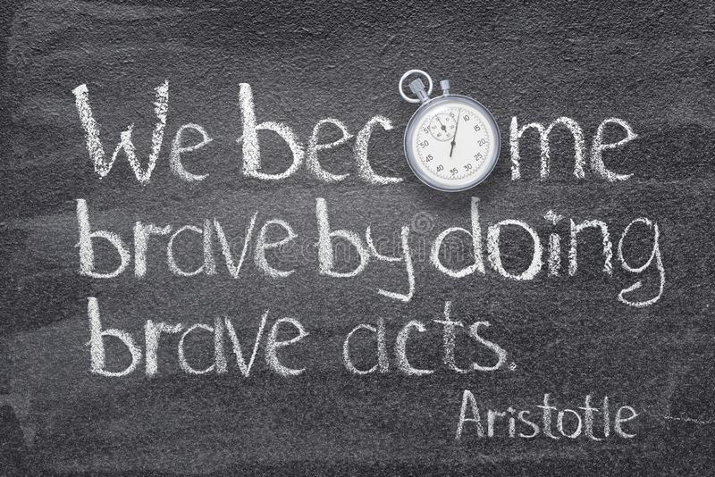 Brave acts Aristotle stock image