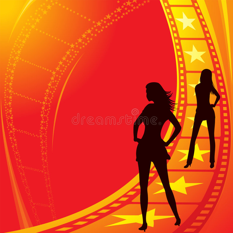 Become movie stars royalty free illustration