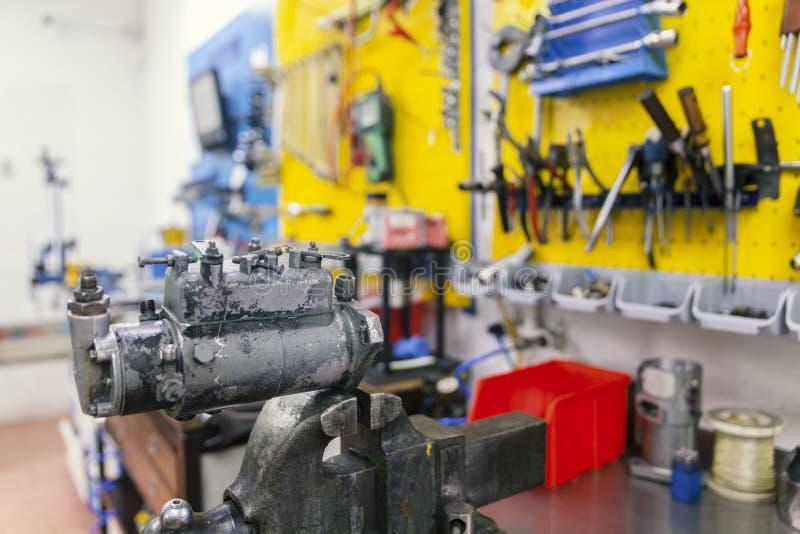 Becs d'essai pour les moteurs diesel photographie stock