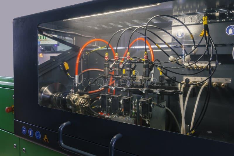 Becs d'essai pour les moteurs diesel images libres de droits
