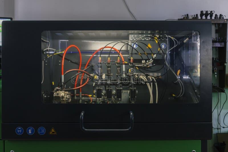 Becs d'essai pour les moteurs diesel photo libre de droits