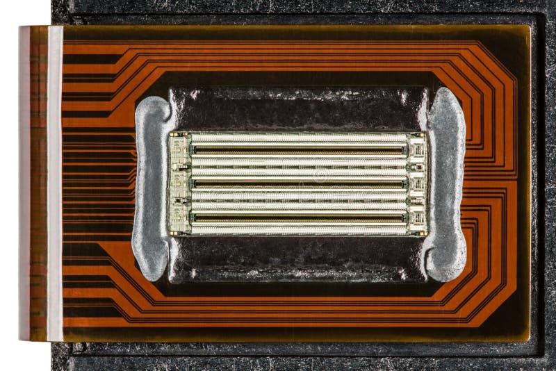 Becs d'un plan rapproché de cartouche de jet d'encre de couleur photo libre de droits
