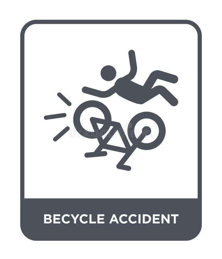 becycle ongevallenpictogram in in ontwerpstijl becycle ongevallenpictogram dat op witte achtergrond wordt geïsoleerd becycle onge royalty-vrije illustratie