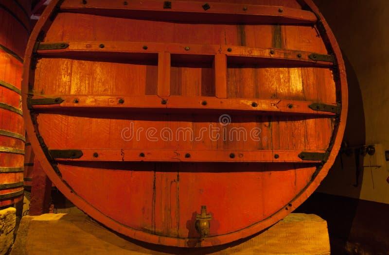Beczki stary czerwone wino zdjęcie royalty free
