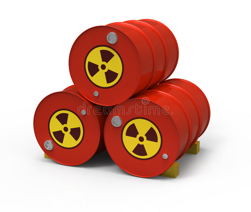 beczkuje promieniotwórczy trzy royalty ilustracja