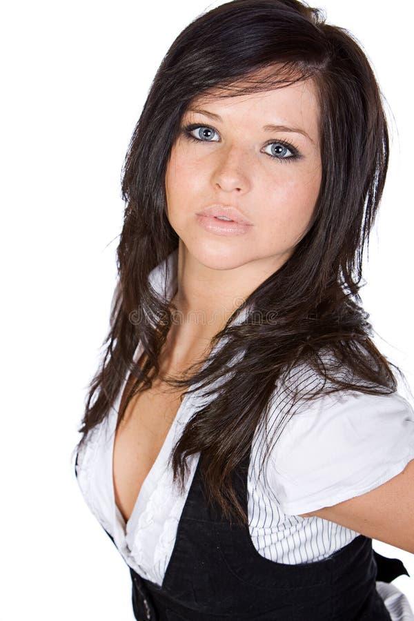 bedöva för brunett som är teen fotografering för bildbyråer
