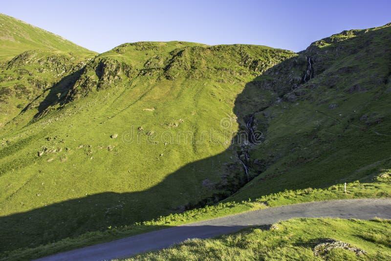 Bedöva landskap av sjöområdesnationalparken, Cumbria, UK royaltyfri fotografi