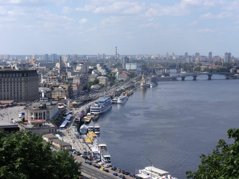 Bedöva sikt av Kiev arkivfoton