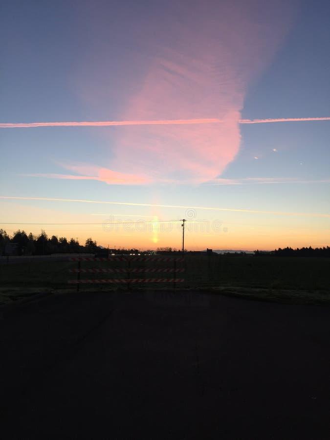 Bedöva solnedgång arkivbilder