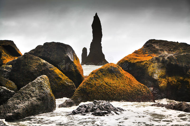 Bedöva vagga bildande nära Vik I Myrdal, sydliga Island fotografering för bildbyråer