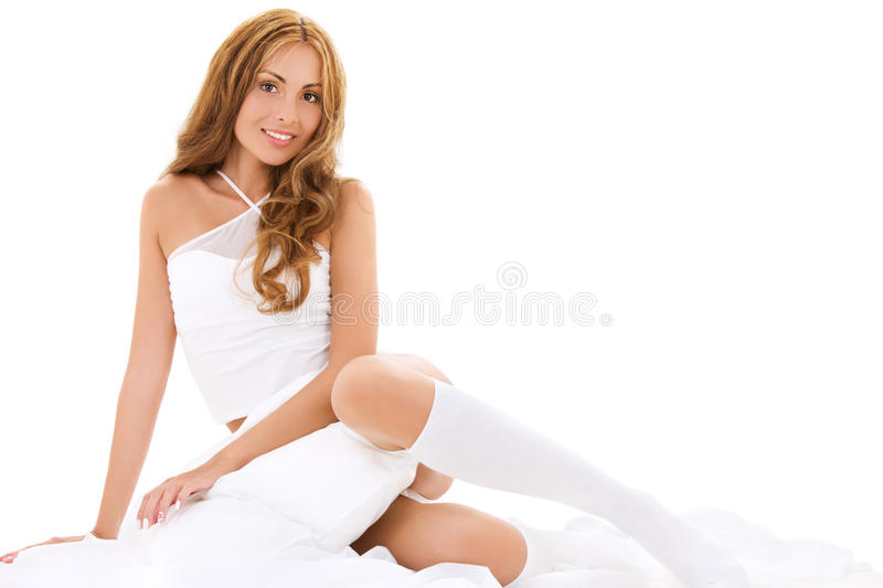 In bed royalty free stock image